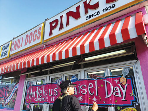 Pink's Hot Dogs is one of many Los Angeles businesses that will feature 1959 prices on some items and services on Aug. 15. (photo courtesy of Pink's Hot Dogs)