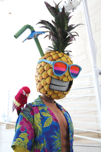 """Costumes from """"The Masked Singer"""" will be on display at the Paley Center for Media through Sept. 29. (photo by Brian To / courtesy of the Paley Center for Media)"""