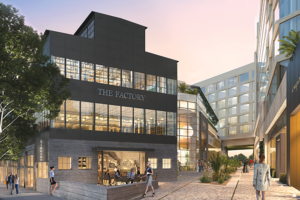 The 90-year-old Factory building was home to the Mitchell Camera Company and the influential LGBT bar Studio One. (rendering courtesy of Faring)