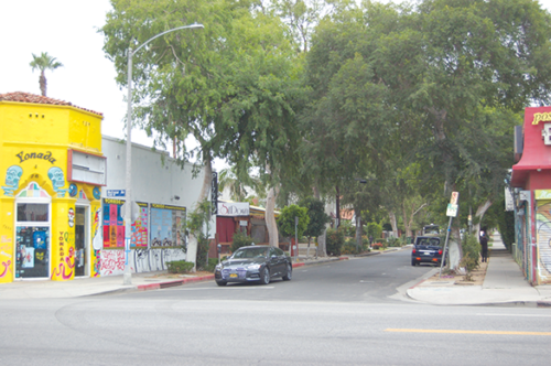 Plans have been withdrawn for a public plaza on Stanley Avenue that would have closed the road to vehicle traffic north of Melrose Avenue. (photo by Edwin Folven)