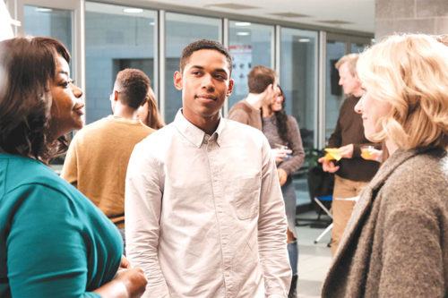 "Ms. Wilson (Octavia Spencer), Luce (Kelvin Harrison Jr.) and Amy (Naomi Watts) explore issues of race and diversity in ""Luce."" (photo courtesy of NEON)"