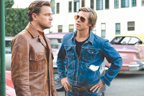 "Leonardo DiCaprio and Brad Pitt star in Quentin Tarantino's new film ""Once Upon Time … In Hollywood,"" set in 1969. (photo by Andrew Cooper/© 2019 CTMG, Inc. All Rights Reserved)"