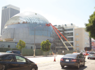Academy Museum construction closes lanes on Fairfax