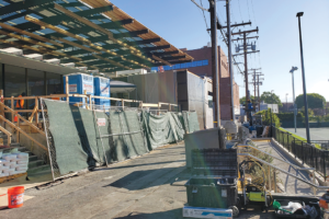 The West Hollywood City Council wants to improve the alley on the north side of West Hollywood Park. (photo by Cameron Kiszla)