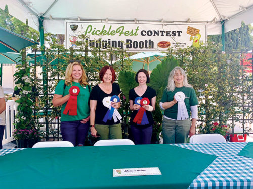 PickleFest winners Kim Lane, left, Mary McLaren, Jeanne Ackerman and Melani Shaum were the winners of the two categories during the 7th annual PickleFest. (photo courtesy of the city of Beverly Hills)