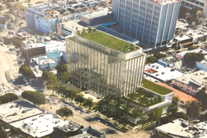 The proposed medical research center would replace three parcels and a public right-of-way alley on a nearly one-acre site. (photo by Ryan Mancini)