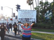 Trump protested on trip to Beverly Hills