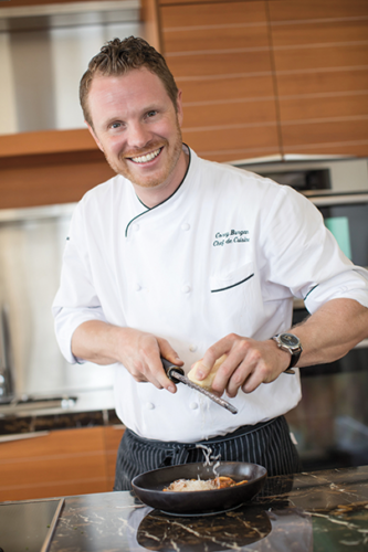 Chef Corey Burgan (photo courtesy of Beverly Wilshire, A Four Seasons Hotel)