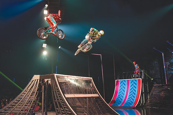 "Cirque du Soleil's ""VOLTA"" captures the energy of BMX acrobatics. (photo by Matt Beard)"