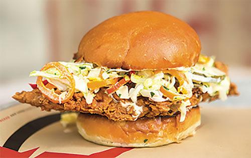 Coop DeVille chicken sandwich. (photo courtesy of The Crack Shack)