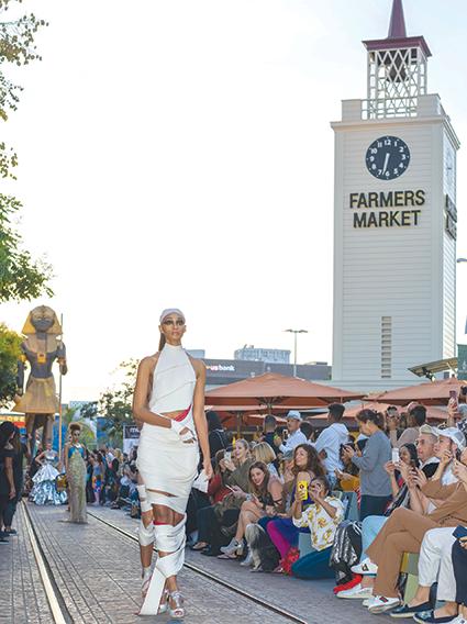 Last year's Metropolitan Fashion Week event at the Farmers Market followed an Egyptian theme. (photo courtesy of the Original Farmers Market)