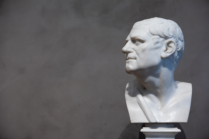 Bust of Man (after the antique), Joseph Wilton English, 1758, marble. (photo by Andy Kitchen)