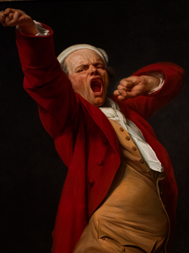 """Self-portrait, Yawning,"" Joseph Ducreux, French (photo by Andy Kitchen)"