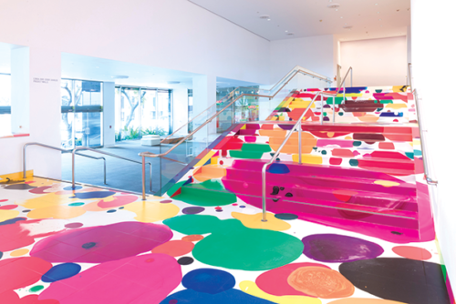 Yunhee Min's art adds a colorful touch at the Hammer Museum. (photo courtesy of the Hammer Museum)