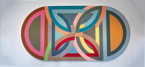 "Colorful artworks representing significant developments in the artist's oeuvre were shown in ""Frank Stella: Selections from the Permanent Collection"" at LACMA. (photo by Andy Kitchen))"