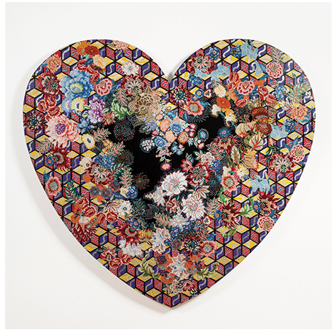 """Piece from """"Pleasure: Pattern and Decoration in American Art 1972-1985"""" (photo courtesy of MOCA)"""