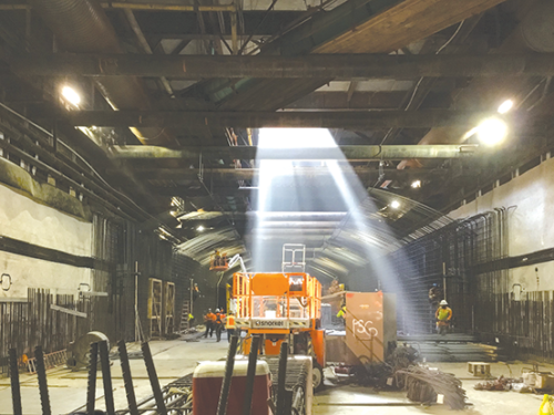 Two machines will tunnel toward Beverly Hills from the Wilshire/La Brea staging yard and future subway station. (photo courtesy of Metro)