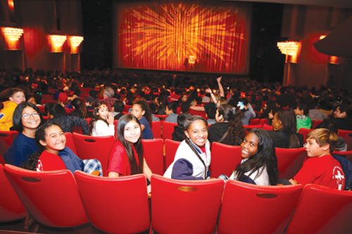 Students attend a matinee dance performance at the Music Center's Dorothy Chandler Pavilion. (photo courtesy of the Music Center)