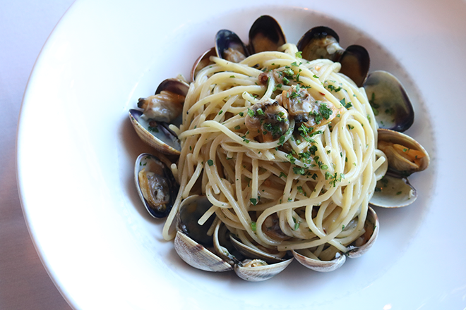 Nerano's spaghetti vongole with fresh clams is a quintessential dish. (photo courtesy of Nerano)