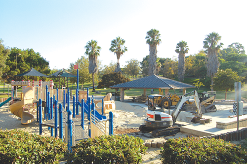 A new playground is expected to open at the end of October in the southern portion of Pan Pacific Park. (photo by Edwin Folven)
