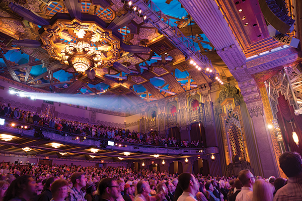 Theater-goers come to The Pantages to see spectacular Broadway shows and to bask in the grandeur of the theater itself. (photo courtesy of the Pantages Theatre)