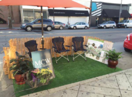 Curbside spaces become public parklets
