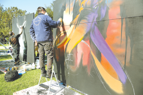 Live painting is one of the featured acts at Tarfest. (photo courtesy of Tarfest)