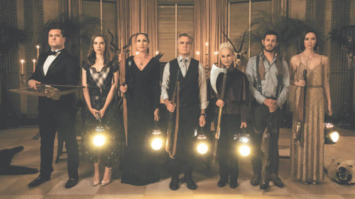 "The Le Domas family prepares for a deadly game of hide-and-seek in ""Ready or Not."" (photo courtesy of Fox Searchlight)"
