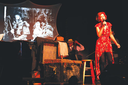 """Kiki Ebsen commemorates her father, Buddy Ebsen, in the one-woman show """"To Dad with Love."""" (photo courtesy of Cliff Lipson)"""