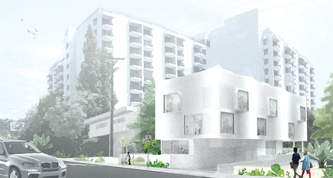 An appeal of a three-story preschool planned for San Vicente Boulevard was rejected by the West Hollywood City Council on Feb. 3. (rendering courtesy of Lorcan O'Herlihy Architects)