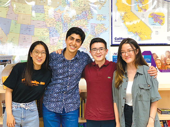 Hyeunjeong (Christina) Im, Matthew Allana, Matthew J. Park and Dayeon (Diane) Jeong were named National Merit Semifinalists. (photo courtesy of BHUSD)