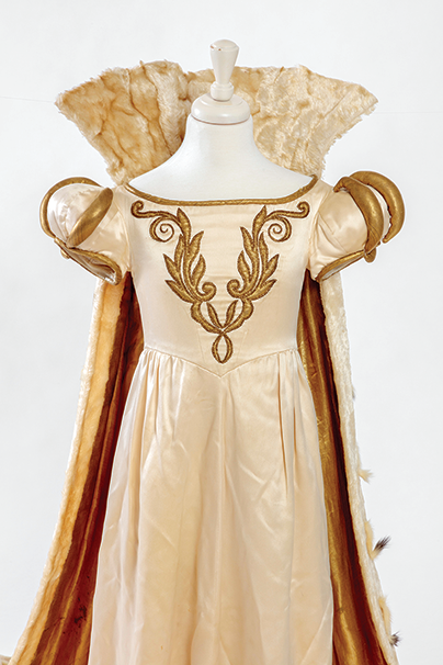 """Shirley Temple's family gifted the museum her gown and other items from her role as Sara Crewe in """"The Little Princess"""" (1939). (photo courtesy of Joshua White, JW Pictures/©Academy Museum Foundation)"""