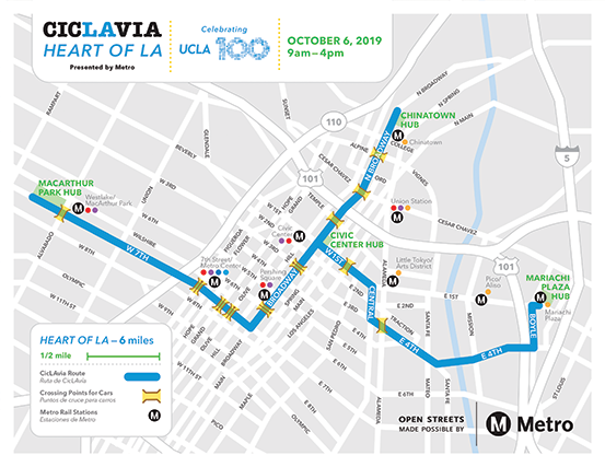 (map courtesy of CicLAvia)