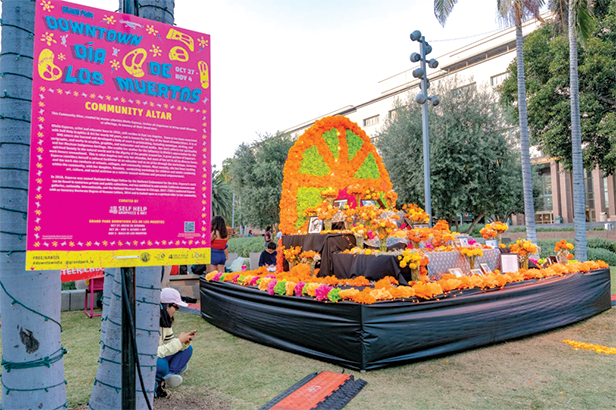 "From a Noche de Ofrenda to L.A.'s Homecoming ""Selena for Sanctuary ""Concert, Grand Park's nine-day presentation of altars and art includes free, family-friendly activities. (photo courtesy of Farah Soto for Grand Park/The Music Center)"