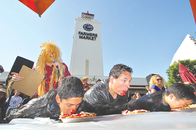The Fall Festival at the Original Farmers Market features a pie eating contest and many other fun activities. (photo courtesy of the Original Farmers Market)