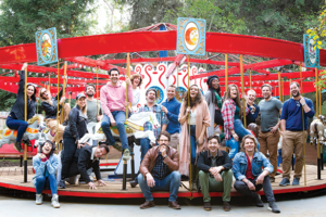 The current main company for the Groundlings Theatre is comprised of no more than 30 members at any time. Each member completed the Groundlings School training program and performed in the Sunday Company before being invited into the main company. (photo courtesy of the Groundlings)