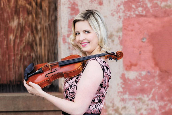 Kathryn Eberle is the new concertmaster for the Hollywood Bowl Orchestra. (photo by Christopher Blackburn)