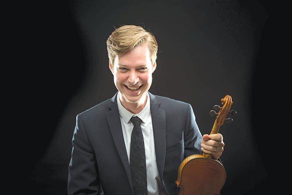 Los Angeles Chamber Orchestra's new second violin, Jason Issokson, takes over on Oct. 26. (photo courtesy of Jason Issokson)