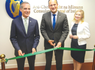 Mayor joins Irish prime minister at consulate opening