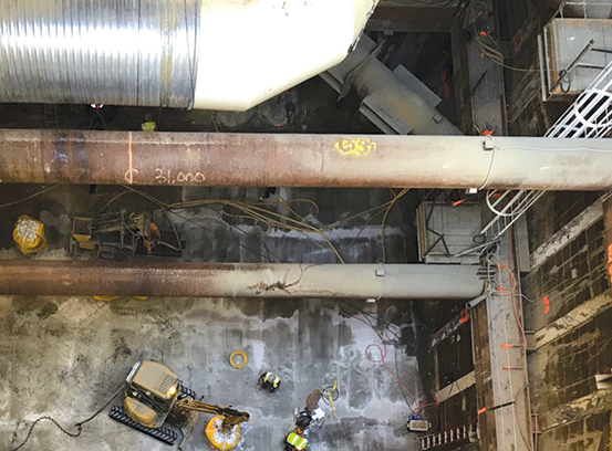 Excavation for future subway stations continues at many locations along the Purple Line Extension project between Wilshire/Western and Century City. (photo courtesy of Metro)