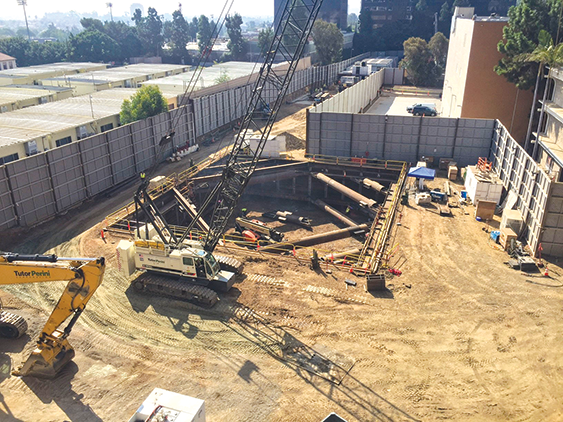 Subway work is ramping up in November at many locations including Century City, particularly in construction staging yards near Constellation Boulevard and Avenue of the Stars. (photo courtesy of Metro)