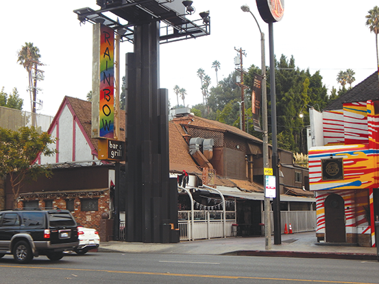 The Rainbow Bar and Grill has long been known as a hotspot for rock 'n' roll musicians. (photo by Cameron Kiszla)