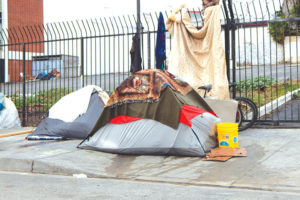The Los Angeles City Council discussed limitations on sidewalk sleeping during its Sept. 24 meeting. (photo by Edwin Folven)