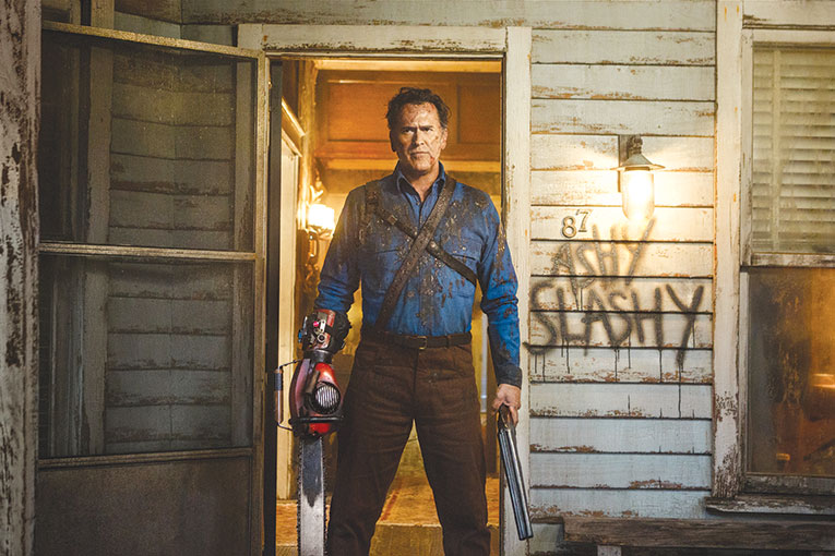 "Bruce Campbell reprises his role as Ash in ""Ash vs Evil Dead,"" one of the 50 best horror films and television series of all time. (photo courtesy of Starz)"