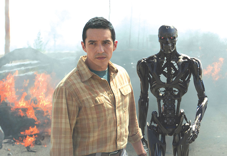 Gabriel Luna stars as Rev-9, a new Terminator in the latest installment of the film franchise. (photo courtesy of 20th Century Fox)