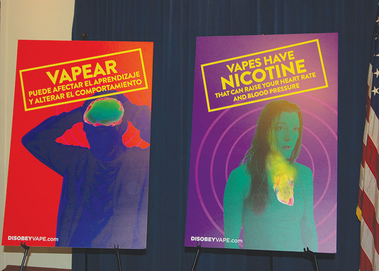 The Los Angeles City Attorney's Office has launched a campaign to raise awareness about the dangers of vaping among youth. (photo by Edwin Folven)