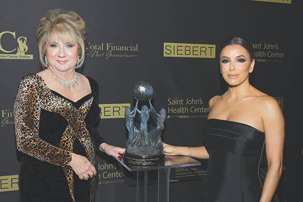ABCs President Gloria E. Gebbia and actress Eva Longoria Bastón addended the Talk of the Town black-tie gala at the Beverly Hilton Hotel on Nov. 23. (photo by Craig T. Matthew)