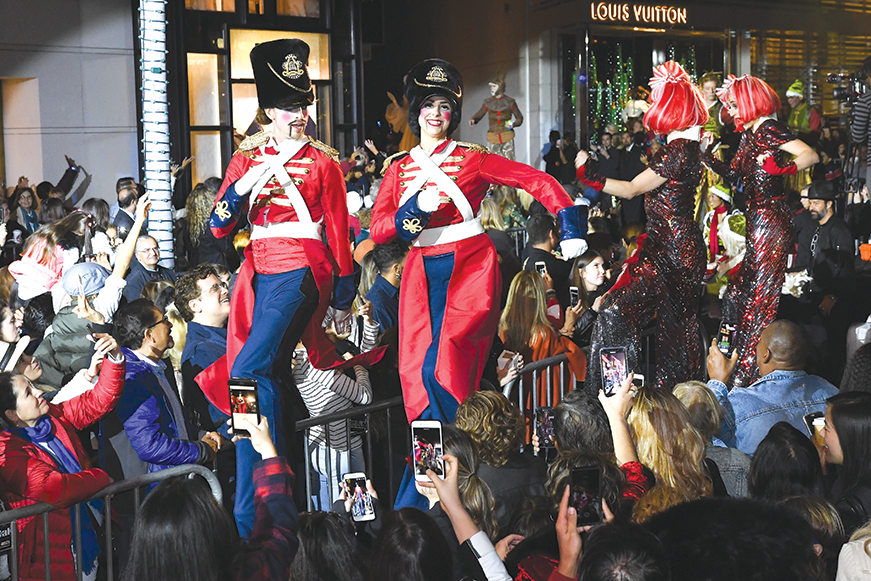 The Rodeo Drive Holiday Lighting celebration will be held tonight. (photo courtesy of the city of Beverly Hills)