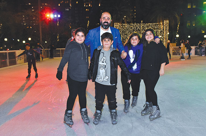 Bring the family to the Bai Holiday Ice Rink Pershing Square for skating and fun activities. (photo courtesy of Red Apple Photography)
