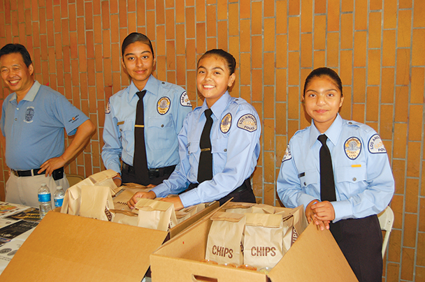 LAPD cadets support officers at community events and gain experience that helps them transition to careers in law enforcement. (photo by Edwin Folven)